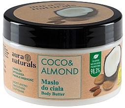 "Духи, Парфюмерия, косметика Масло для тела ""Кокос и миндаль"" - Aura Naturals Coco & Almond Body Butter"