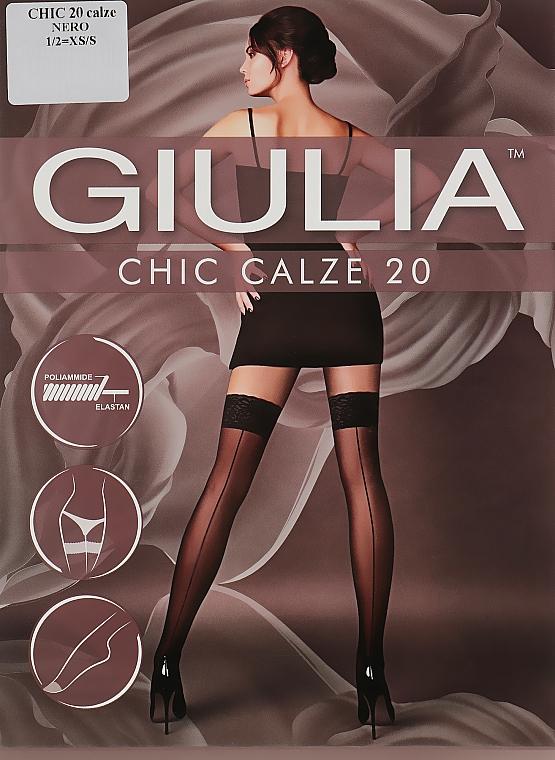 "Чулки для женщин ""Chic"" 20 DEN, calze-nero - Giulia"