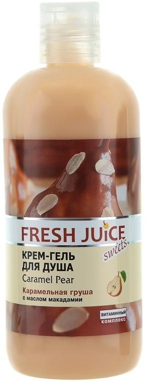 """Крем-гель для душа """"Карамельная груша"""" - Fresh Juice Sweets Caramel Pear"""