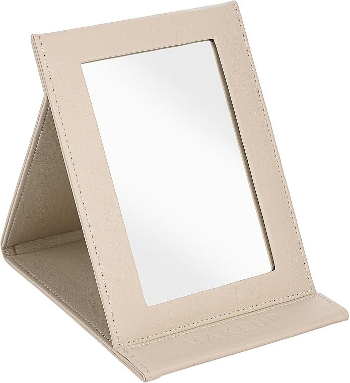 Зеркало-книжка косметическое, бежевое - MakeUp Tabletop Cosmetic Mirror Beige
