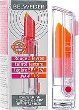 Духи, Парфюмерия, косметика Помада для губ оттеночная c SPF 15/UVA-PF 7,5 - Belweder Lipstick