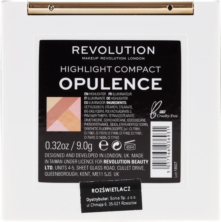 Хайлайтер для обличчя - Makeup Revolution Opulence Compacts Highlighter — фото N5