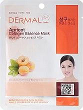 Духи, Парфюмерия, косметика Маска с коллагеном и экстрактом плодов абрикоса - Dermal Apricot Collagen Essence Mask