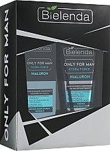Духи, Парфюмерия, косметика Набор - Bielenda Only For Man Hydra Force Hialuron (wash/gel/150ml + f/gel/50ml)