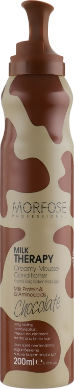 "Мусс для волос ""Шоколад"" - Morfose Milk Therapy Chocolate Creamy Mousse Conditioner"