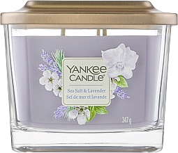 Духи, Парфюмерия, косметика Ароматическая свеча на подставке - Yankee Candle Elevation Sea Salt & Lavender