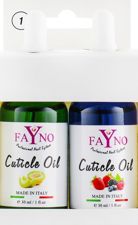 "Набор масел для кутикулы №1 ""Дыня+Ягодный Микс"" - Fayno Cuticle Oil (oil/2x30ml)"