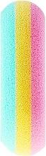 Губка банная овальная 30468, разноцветная - Top Choice — фото N2
