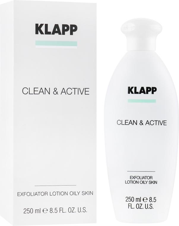 Эксфолиатор для жирной кожи - Klapp Clean & Active Exfoliator Oily Skin