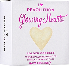 Духи, Парфюмерия, косметика Хайлайтер для лица - I Heart Revolution Blushing Hearts Highlighter