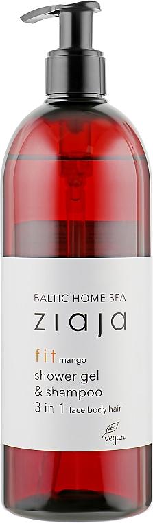 """Универсальный гель для мытья лица, тела и волос """"Манго"""" - Ziaja Baltic Home Spa Gel Mango"""