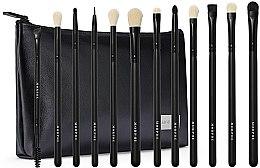 Духи, Парфюмерия, косметика Набор кистей для макияжа - Morphe Eye Obsessed 12-Piece Eye Brush Collection + Bag