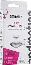Духи, Парфюмерия, косметика Восковые полоски для губ - Andmetics Lip Wax Strips Women (strips/8x2pc + wipes/4pc)
