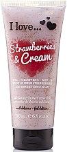 Духи, Парфюмерия, косметика Скраб для тела - I Love... Strawberries & Cream Exfoliating Shower Smoothie
