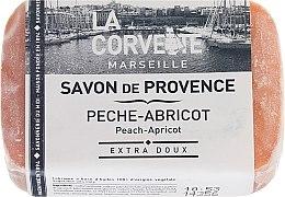 "Духи, Парфюмерия, косметика Прованское мыло ""Персик-абрикос"" - La Corvette Provence Soap Peach-Apricot"