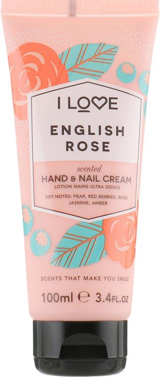 """Крем для рук """"Английская роза"""" - I Love English Rose Heand & Nail Cream"""