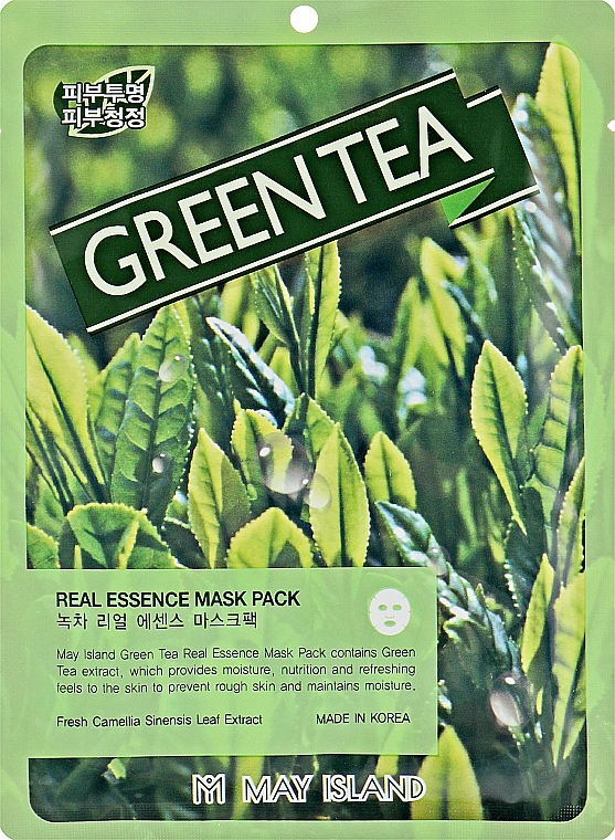 Маска для проблемной кожи с зеленым чаем - May Island Real Essence Green Tea Mask Pack