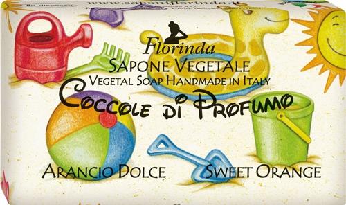 """Мыло натуральное детское """"Сладкий апельсин"""" - Florinda Sapone Vegetale Orange Cake"""