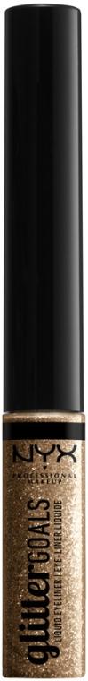 Глиттерная подводка для глаз - NYX Professional Makeup Glitter Goals Liquidd Eyeliner