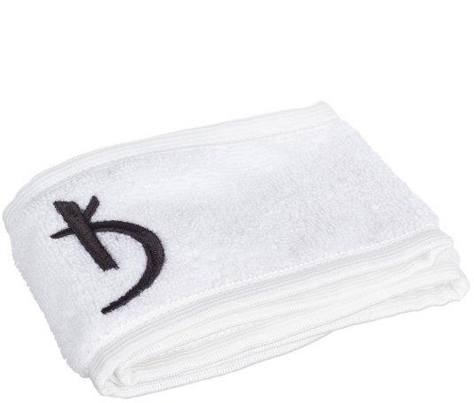 Повязка махровая на голову на липучке, белая - Kodi Professional