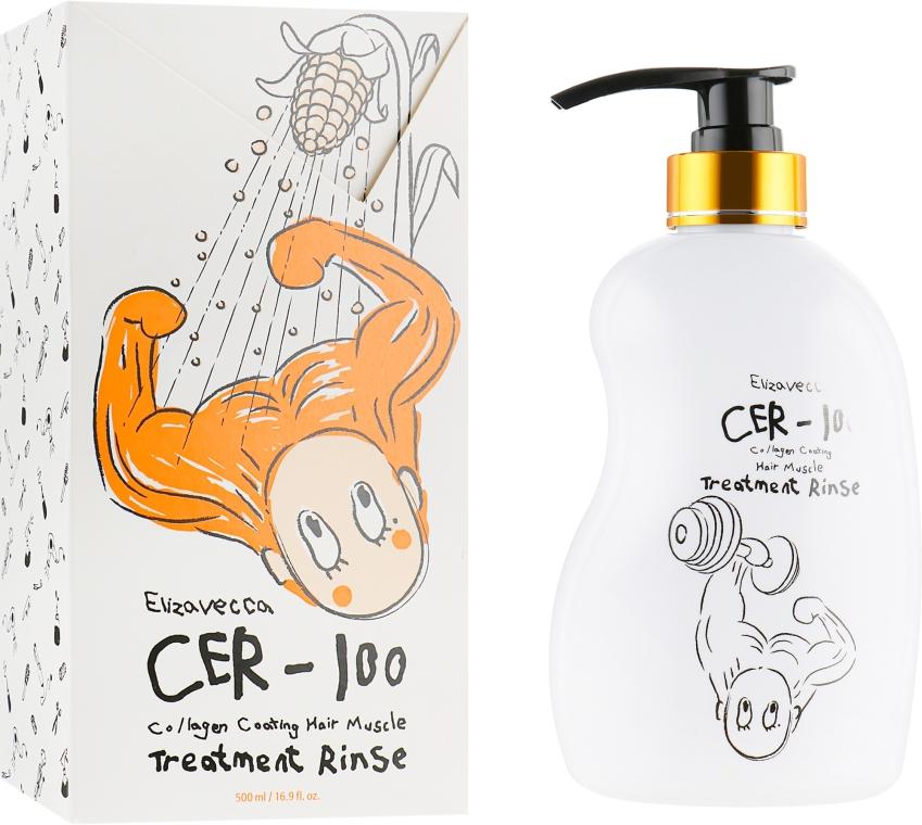 Бальзам-ополаскиватель для волос - Elizavecca CER-100 Collagen Coating Hair Muscle Treatment Rinse