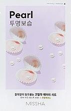 Духи, Парфюмерия, косметика Маска для лица с экстрактом жемчуга - Missha Airy Fit Pearl Sheet Mask