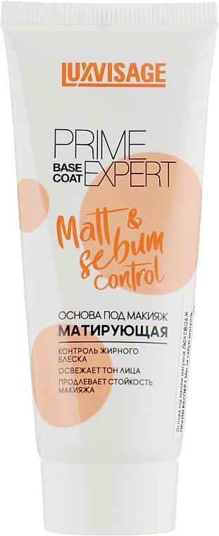 Основа под макияж матирующая - Luxvisage Prime Expert Matt&Sebum Control Base Coat