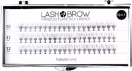 Духи, Парфюмерия, косметика Накладные ресницы - Lash Brown Premium Flare Silk Lashes Natural Long
