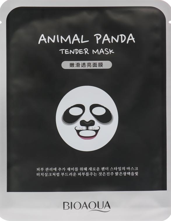 Смягчающая тканевая маска для лица с принтом - BioAqua Panda Tender Mask