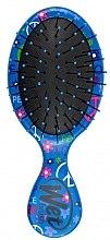 Духи, Парфюмерия, косметика Расческа компактная с узором, голубая - Wet Brush Squirt Happy Hair