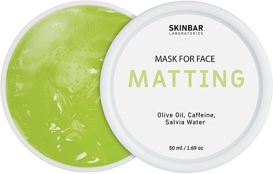 """Маска гелевая матирующая для жирной кожи """"Matting"""" - SKINBAR Matting Gel Mask"""