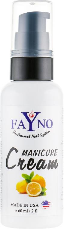 """Увлажняющий крем для рук и кутикулы """"Лимон"""" - Fayno Manicure Cream"""