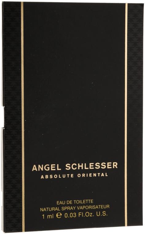 Angel Schlesser Absolute Oriental - Туалетная вода (пробник)