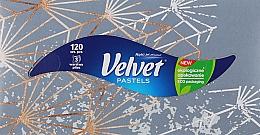 """Духи, Парфюмерия, косметика Салфетки """"Бархатная гармония"""", 3 слоя, 120 шт, серая упаковка - Velvet"""