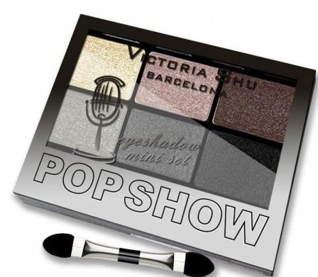 Набор теней для век, 6 цветов - Victoria Shu Pop Show