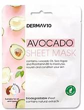 Духи, Парфюмерия, косметика Тканевая маска для лица - Derma V10 Avocado Sheet Mask