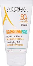 Духи, Парфюмерия, косметика Матирующий флюид для лица - A-Derma Protect AC Mattifying Fluid SPF 50