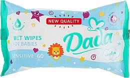 Духи, Парфюмерия, косметика Влажные салфетки для детей, без запаха - Dada Sensitive Wipes