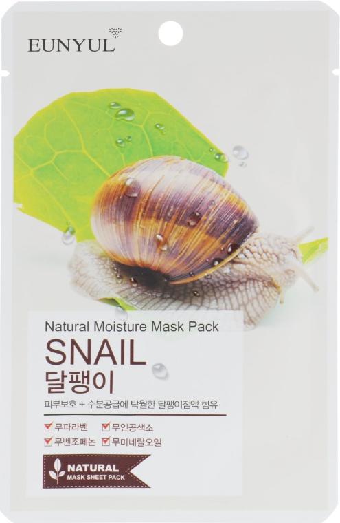 Тканевая маска с муцином улитки - Eunyul Natural Moisture Mask Pack
