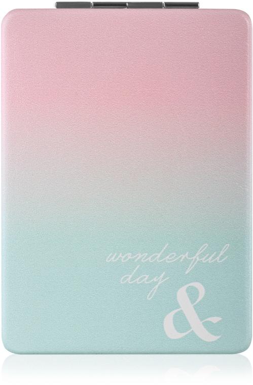 Зеркало косметическое, «Wonderful Day», ментолово-розовое - SPL