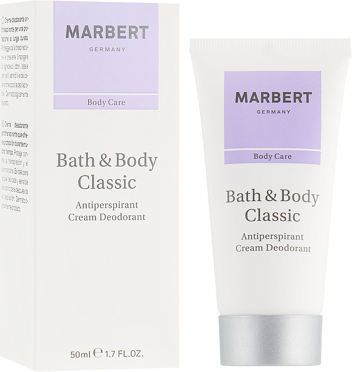 Антиперспирантный крем-дезодорант - Marbert Bath & Body Classic Anti-Perspirant Cream Deodorant