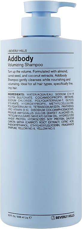 Шампунь для придания объема волос - J Beverly Hills Blue Volume AddBody Volumizing Shampoo