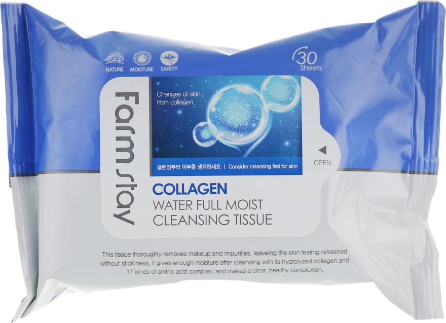 Салфетки для очищения с коллагеном - FarmStay Collagen Water Full Moist Cleansing Tissue