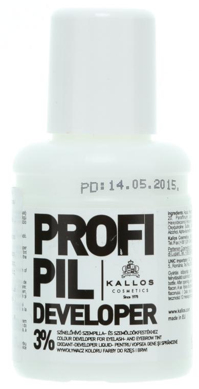 Окислитель для краски 3% для бровей и ресниц - Kallos Cosmetics Profi Pil Oxi Krem