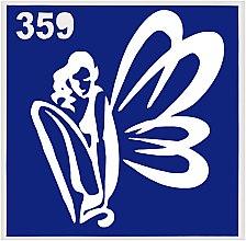 Духи, Парфюмерия, косметика Трафарет для боди-арта, 6х6 см, 359 - Mayur