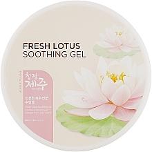 Универсальный гель с лотосом - The Face Shop Jeju Fresh Lotus Soothing Gel — фото N1