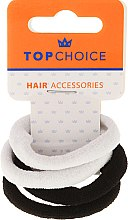 Духи, Парфюмерия, косметика Резинки для волос, 22593, черные и белые - Top Choice