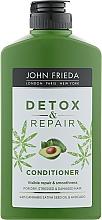 Духи, Парфюмерия, косметика Кондиционер для восстановления и гладкости волос - John Frieda Detox & Repair Conditioner
