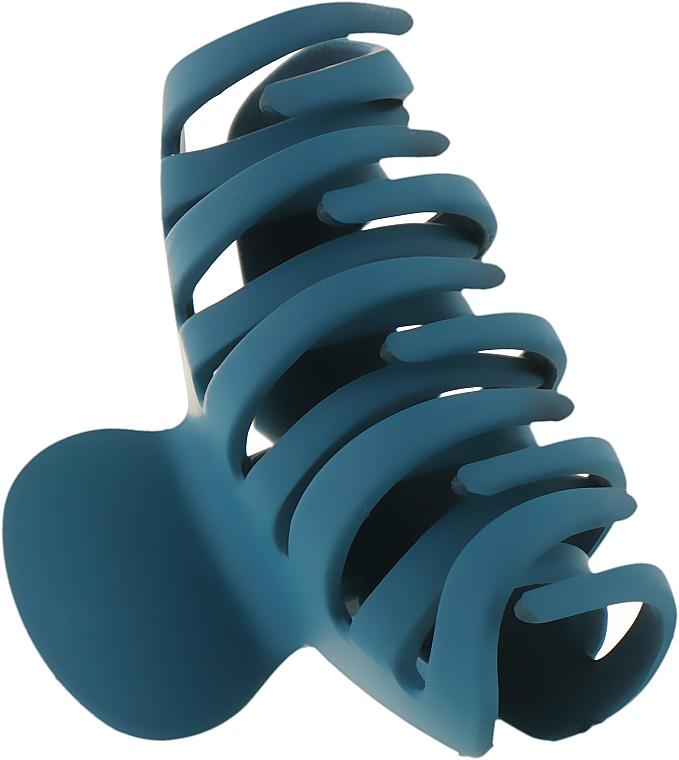 """Крабик для волос большой """"Классик"""", HA-1244, синий - La Rosa"""