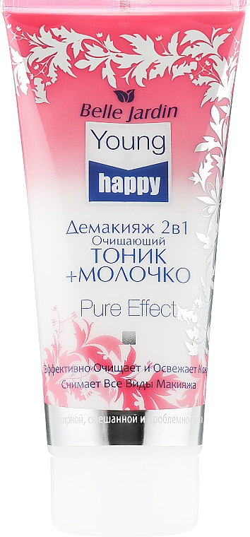 Демакияж 2в1 очищающий тоник+молочко - Belle Jardin Young & Happy Pure Effect Gel